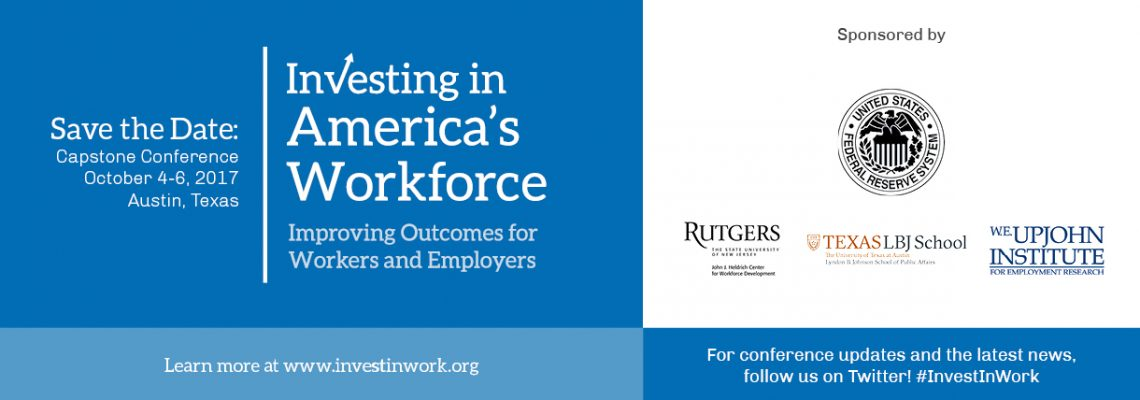 Investing in America's Workforce Capstone Conference